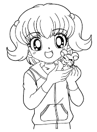 Cartoon Baby Girl Hair Coloring Page Anime And Little Hamtaro Best