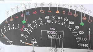 Mercedes A Class W168 Dash Warning Lights Symbols Obd2 Diagnostic Code Readers