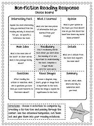 Non Fiction Reading Response Choice Boards Plus More