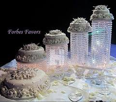 wedding cakes with lights.  Wedding Forbes Favors  Set Of 4 Acrylic Crystal Chandelier Cake Stand Asian Style  With Battery LED Inside Wedding Cakes Lights E