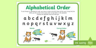 Alphabetical Order Alphabetical Order Display Poster Australia Display Poster