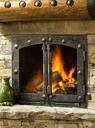 Fireplaces  DM1742 Black Fireplace Doors