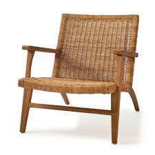 Riviera Maison Africa Lounge Chair Rattan Mernium Wood Houseology