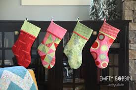 Quilted Christmas Stocking Pattern Enchanting Christmas Stockings In July Empty Bobbin Sewing Studio