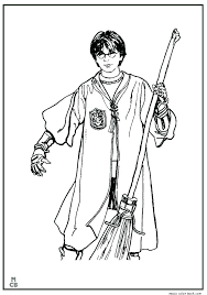 Harry Potter Coloring Pages For Kids Harry Potter Printable Coloring ...