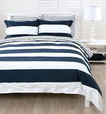 um image for rugby stripe quilt cover rugby stripe duvet cover navy navy white striped duvet