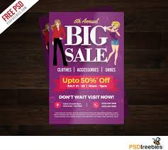 flyer free template microsoft word big sale colorful flyer free psd template psdfreebies com