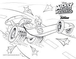 Mickey And The Roadster Racers Coloring Pages Color Bros