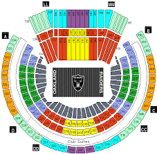 Oracle Arena Seating Chart Raiders Oakland Coliseum Seating Chart Coliseum Oakland