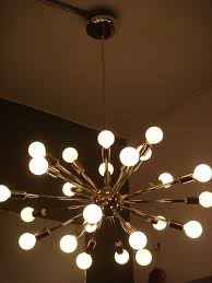 sputnik starburst light fixture chandelier lamp polished brass bulbs