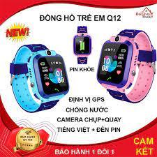 Đồng Hồ Thông Minh GPS Định Vị Cho TrẻQ12 Thế Hệ Mới 2019. Nhắn Tin Gọi  Điện, Chống Thấm Nước Cao Cấp, Camera Sắc Nét.