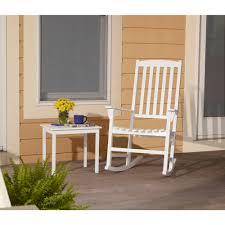 solid wood rocking chair indoor outdoor seat porch deck rocker white