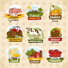 Label Design Free Vintage Farm Labels Design Set Vector Illustration Of Calendars
