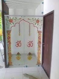 glass printed temple door 5mm rs 2000