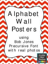 Alphabet Wall Posters Freebie Alphabet Wall Poster Wall