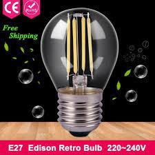 Edison Retro Led Bulb E27 2w 4w 220v Filament Light Glass Bulb 240v 6w 8w Cob Light Antique Vintage Edison Lamp Home Lighting
