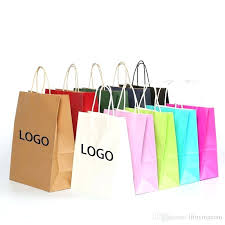 brown gift bags 6 sizes paper bag with ng excellent quality custom logo from whole handles