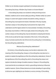 groundhog day essay groundhog day essay creative interpretations  groundhog day essay groundhog day essay groundhog day wonders in the dark wale black gate magazine