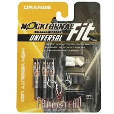 G5 Lighted Nocks Nockturnal Lighted Nock Universal Fit Orange 3 Pack Nt315