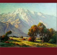 paul grimm california vintage art fine art oil painting sierra nevada mountains