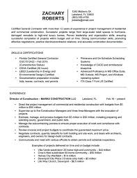 Sample Of Resume Contractor Resume Sample Resume Objective Examples
