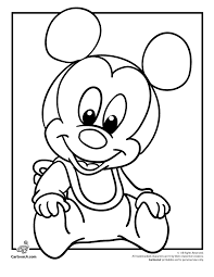 Babydisneycoloringpages Disney Babies Coloring Pages Mickey