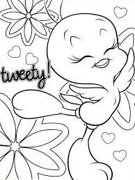 Tweety Bird Coloring Pages Amazing Beautiful Disney Bleupnr Free