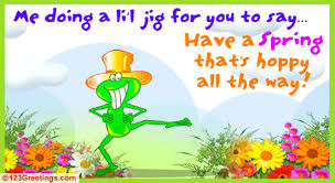 Spring Photo Cards A Spring Jig Free Fun Ecards Greeting Cards 123 Greetings