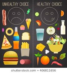Junk Food Healthy Food Chart Royalty Free Charts Foods Unhealthy Healthy Stock Images