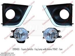 2014 Toyota Corolla Fog Light Bulb Toyota Corolla Fog Lamp With Frame Chrome And Black Ty642