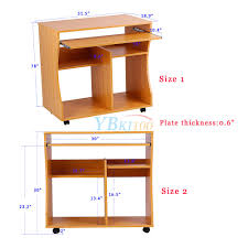 wooden computer desk basic home office table workstation beech wood pc laptop uk 4 34 49 basic home office
