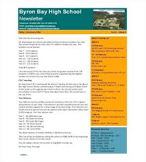 February Newsletter Template School Newsletter Template Sample Download Examples Of