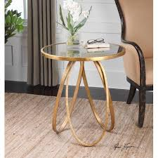 incredible round glass end table arteriors home round gold glass end table