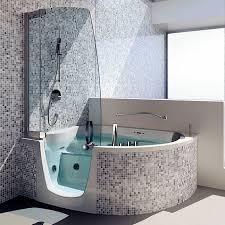 free standing bathtub shower combination corner composite 383 by fabio lenci