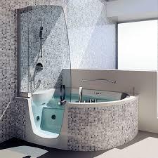 free standing bathtub shower combination corner composite 383 by fabio lenci