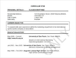 Resume Objectives Template Musiccityspiritsandcocktail Com