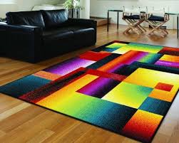 tayse-rugs-Living-Room-Contemporary-with-area-rug-bright-colorful-rug -contemporary-living-room-modern
