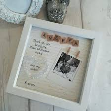 bridesmaid for maid of frame wedding gift scrabble art sister picture frames big little brother