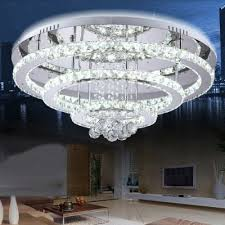 lightmyself 75w 5000lm diamond ring led crystal chandelier