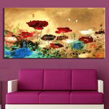 Painting For The Living Room 1pcs Set Huge Picture Living Room Wall Art Chinese Style Flower