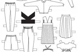 Clothes Template 010 Paper Doll Clothing Template Ideas Ulyssesroom