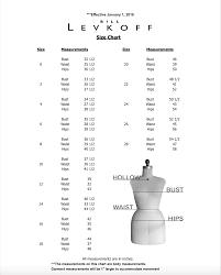 Bill Levkoff Size Chart 2017 Size Charts Ava Clara Couture Bridal
