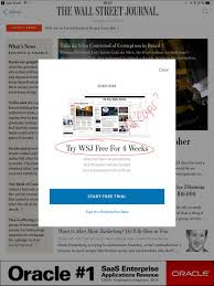 ux writing sample the wall street journal ipad app