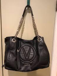 Valentino by Mario Valentino Leather Chain Tote