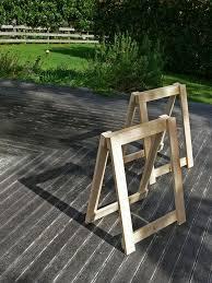 diy trestle legs for studio workbench
