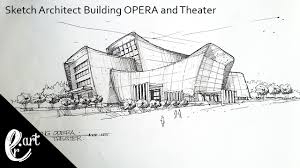 architectural building sketches. Sketch Architect Building OPERA And Theater || In The Style Of Zaha Hadid Architectural Sketches .