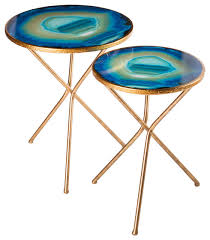 nesting agate table set of 2
