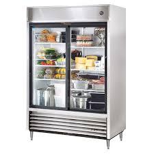 true tsd 47g hc ld 54 two section reach in refrigerator 2 glass door 115v