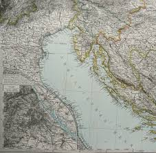 Nautical Charts Croatia Free 1882 Antique Large Map Of The Adriatic Sea And The Balkans