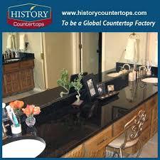 historystone galaxy black granite bathroom countertops custom vanity tops solid surface cutting from slabs